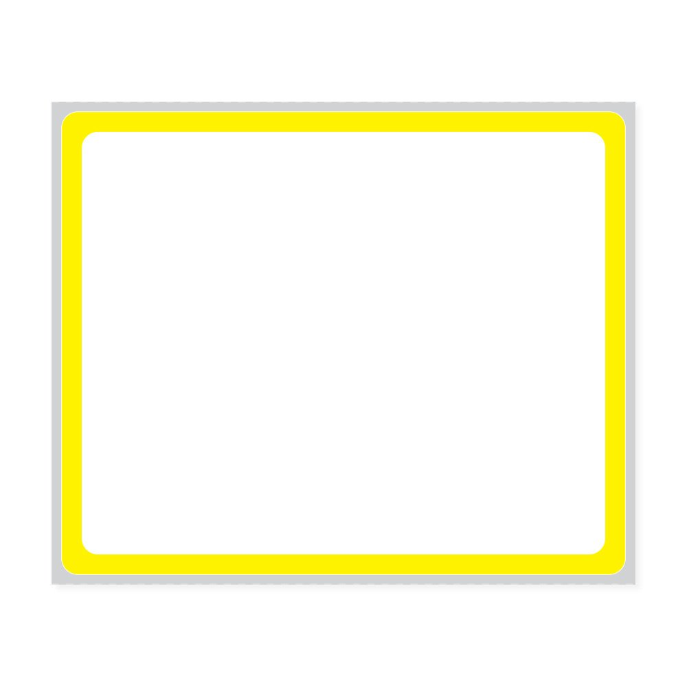 PDC Healthcare LEMAR01 Label Direct Thermal Paper, Permanent, 3'' Core, 3 1/2'' x 2 7/8'', Yellow (Pack of 5400)