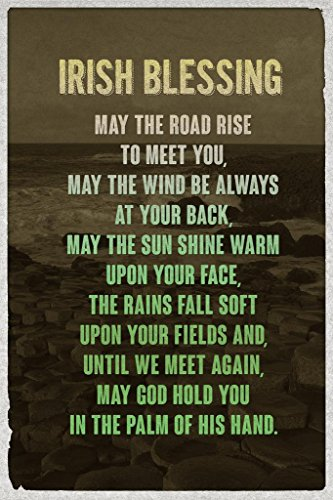 Irish Blessing Art Print Poster 24x36 inch