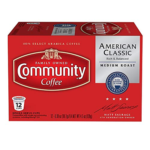 Community Coffee  American Classic Medium Roast Single Serve 100% Arabica Coffee Beans, 3 Count