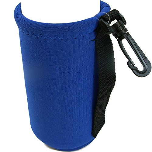 Intrepid International Neoprene Water Bottle Carrier, Blue