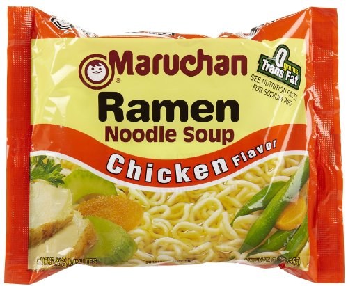 Maruchan Ramen Noodle Soup Chicken Flavor, 12 Ct (Chicken Maruchan Soup)