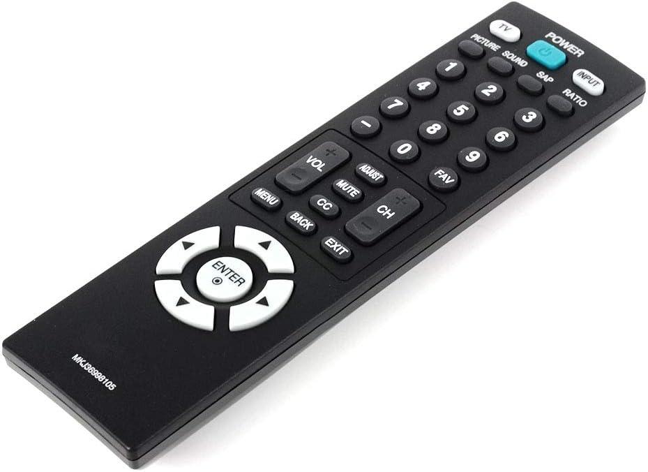 YUHUA ELE Control Remoto para LG Smart TV M2362D M2762d M2062D M2262D, Mando a Distancia de Reemplazo para Televisores para LG LCD LED HDTV: Amazon.es: Electrónica