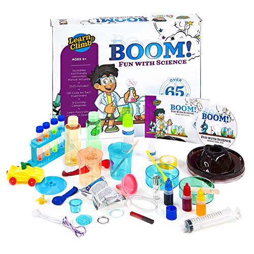 Learn & Climb Kids Science Kit - Over 60 Experiments, Fun with Science! (Best Chemistry Kits For Kids)