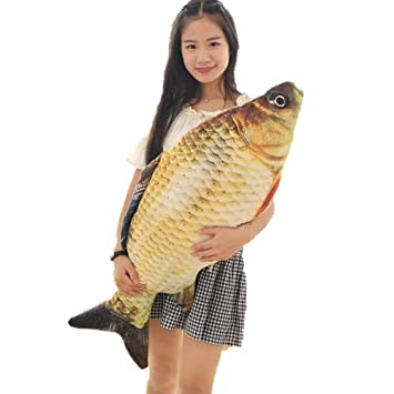 Amazon.com: Makaor - Almohada decorativa con forma de pez ...
