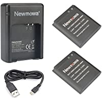 Newmowa Replacement Battery (2-Pack) and Dual USB Charger for Samsung EB-BC200ABE and Samsung Gear 360 Degree Spherical Camera,SM-C200