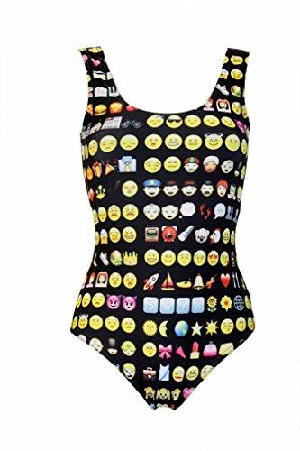 2c0dfeb83826e Amazon.com  Emoji Emoticon Smiley Icons Printed Swimsuit  Clothing