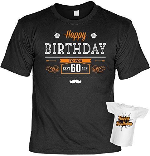 Zum 60. Geburtstag! T-Shirt - Happy Birthday to you Best Age - 60 Jahre Set mit einem Minishirt zum Verschenken!
