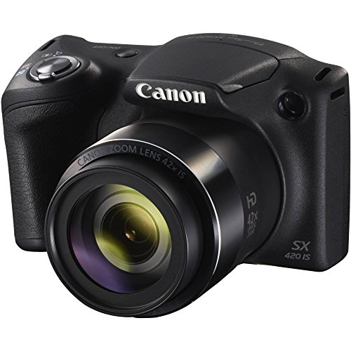 Canon PowerShot SX420 Digital Camera w/ 42x Optical Zoom - Wi-Fi & NFC Enabled - Black (Certified Refurbished) by Canon