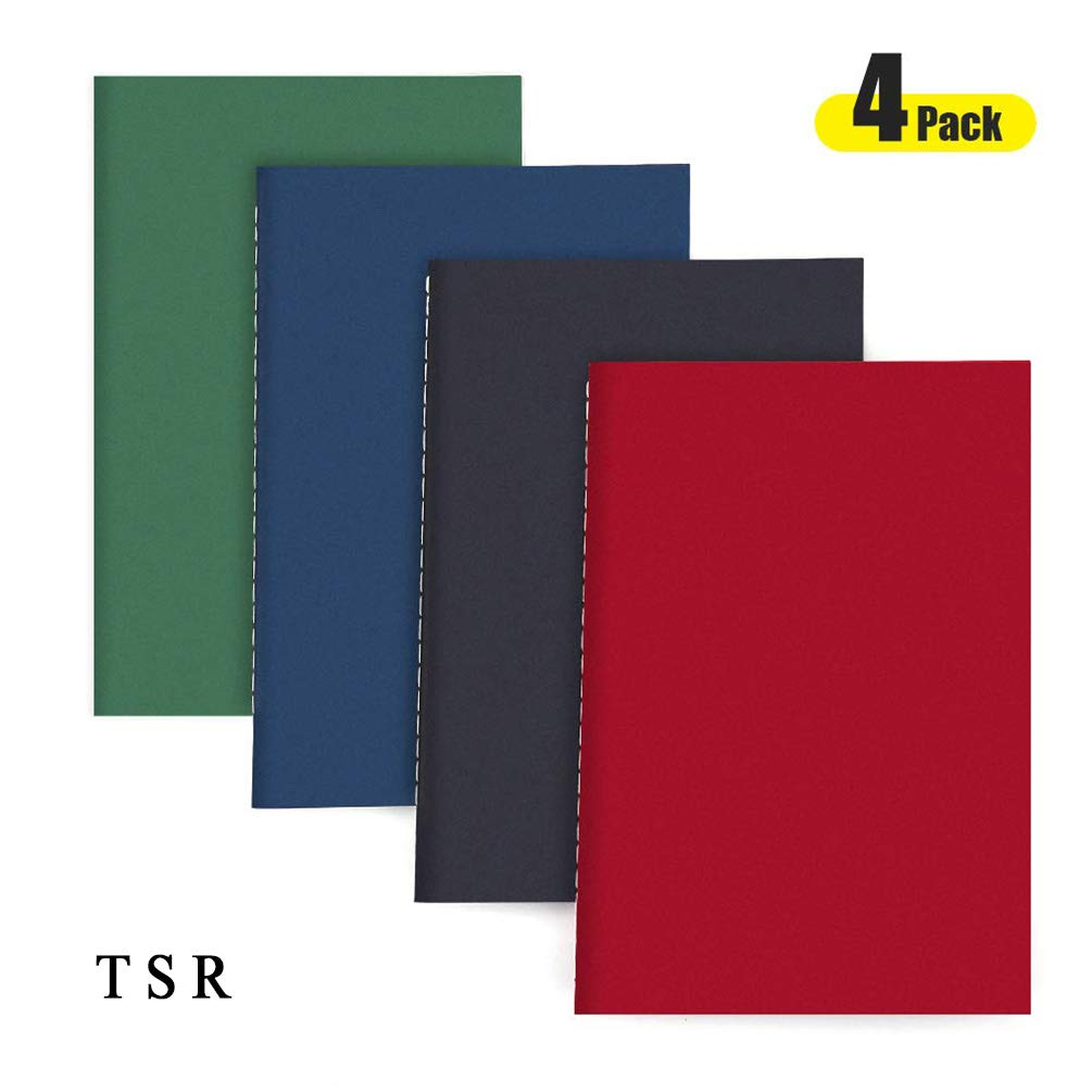 TSR Travel Notebook Journal, AHGXG A5 Notebooks-Pack of 4-Travel Journal Set with Lined Paper