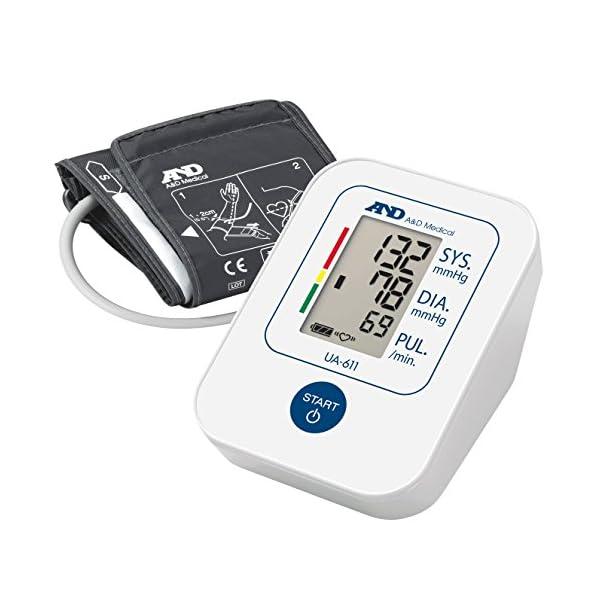 A&D Medical UA-611 Tensiómetro de brazo digital, lecturas de presión arterial rápidas, cómodas y precisas, validado… 2
