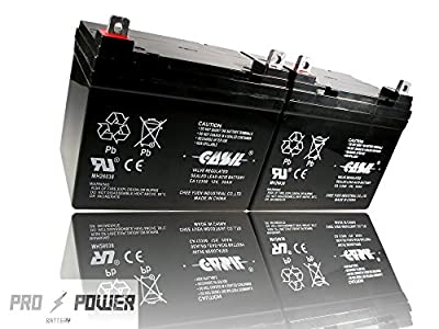 (2) Casil 12v 35ah for U1 Deep Cycle AGM Solar Battery Replaces 33Ah, 34A