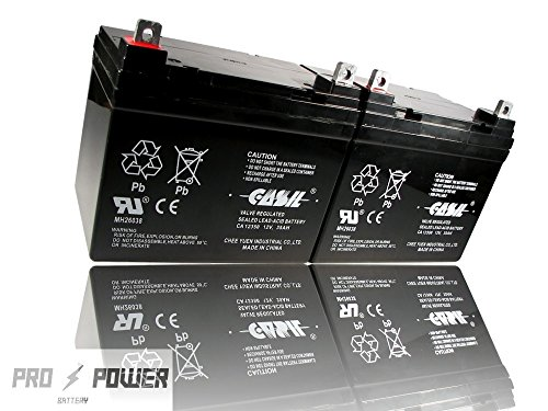 (2) Casil 12v 35ah for Pride Mobility Jet 3 Ultra Replacement Battery by Chee Yuen