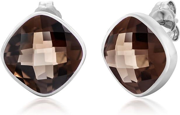 Natural Stone Earring Rose Quartz Stud Earring Stud Earring For Women/'s Solid 925 Sterling Silver Earring Oval Gemstone Earring