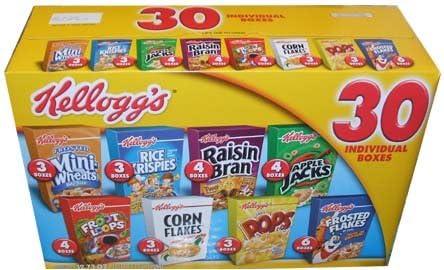 Kellogg s cereales 30 caja individual Variety Pack 32.73 total onzas – valor caja: Amazon.es: Alimentación y bebidas