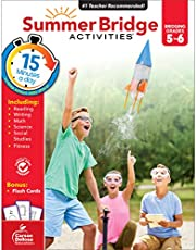 Summer Bridge Activities - Grades 5 - 6, Workbook for Summer Learning Loss, Math, Reading, Writing and More with Flash Cards