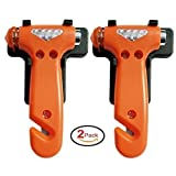 Gthunder Car Hammer-Auto Safety Seatbelt Cutter Emergency Class/Window Punch Breaker Auto Rescue Disaster Escape Life Saving Hammer-Set of 2