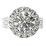 Large Diamond Ring for Women Girlfriend Silver Microinlaid Cubic Zirconia Wedding Engagement Jewelry Size 6-10