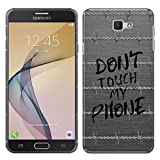 Samsung Galaxy On7 2016/ On Nxt / J7 Prime G610 Case, FINCIBO Back Cover Hard Plastic Protector Case Stylish Design, Don't Touch My Phone Barb Wire