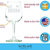 Got Me Tipsy Number 1 Mom Wine Glass - Birthday Gift Idea for Mom, Mother's Day Gift for Mom - 13-Ounce, Glass