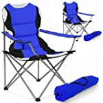 TecTake 2x Folding upholstered campin...