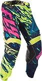 Fly Racing Unisex-Adult Kinetic Mesh Pants Hi-Vis/Blue/Pink Size 40