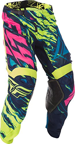 Fly Racing Unisex-Adult Kinetic Mesh Pants (Hi-Vis/Blue/Pink, Size 36)