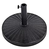 #8: Blissun Heavy Duty Patio Market Umbrella Base Stand (Rust free resin)