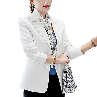 Mujer Manga Larga Blazer Un Botón Elegante Oficina Negocios ...