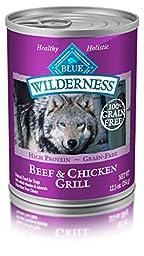 Blue Buffalo Wilderness Beef & Chicken Grill - Grain Free 12.5 oz, Pack of 12