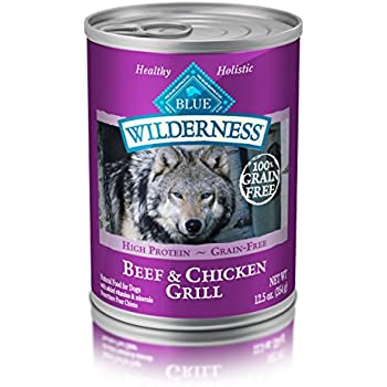 BLUE Wilderness Adult Grain-Free Beef & Chicken Grill Wet Dog Food 12.5-oz (pack of 12)
