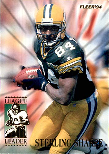 - 1994 Fleer League Leaders #6 Sterling Sharpe GREEN BAY PACKERS (nrmt) SOUTH CAROLINA GAMECOCKS    (Box185MP)