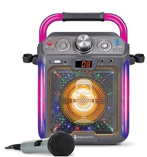 Singing Machine SML2082BTC Bluetooth G-Lite CD+G Karaoke System,Silver,Lets You Play Your Music CDs and CD+Gs or Stream Audio Via Your Bluetooth Compatible Devices,Great Gift For Kids