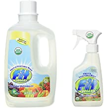 Fit Organic Fruit And Vegetable Wash 12-Ounce Spray Bottle + 64oz Refill Bottle