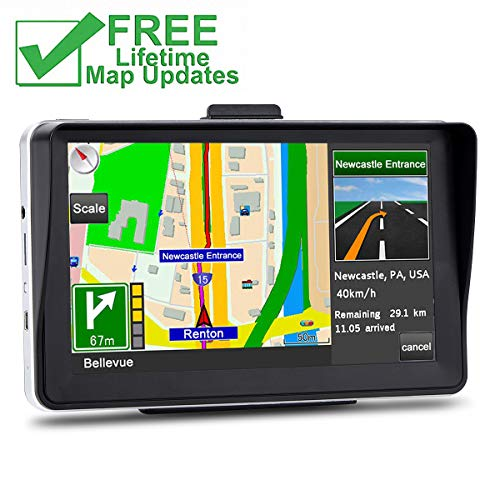 GPS Navigation for Car, 7 inches 8GB Lifetime Map Update Spoken Turn-to-Turn Navigation System for Cars, Vehicle GPS Navigator Lifetime Free Maps