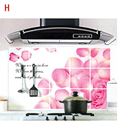 Bathhouse Wall Paper, AMA(TM) Waterproof Foil Stickers Anti-oil Wrap Kitchen Bathroom Decals Self-adhesive Decoration Stickers