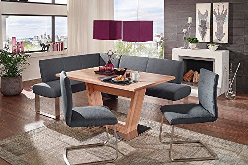 4 Piece Dining Set, High End Corner bench, Safran 200 breakfast nook with P120 Dining Table (For Breakfast Kitchens Booths)