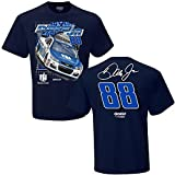 NASCAR Men's Spoiler 2-Spot-Driver/Sponsor T-Shirt-Dale Earnhardt Jr.-Nationwide-Navy-Large