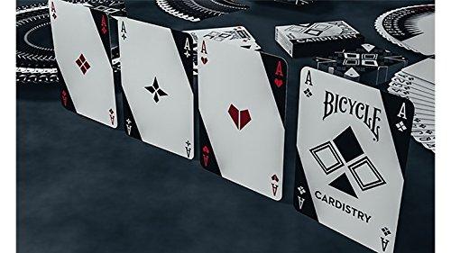 SOLOMAGIA Mazzo di Carte Bicycle Cardistry Black And White Playing Cards by D/èvo vom Schattenreich And Handlordz Giochi di Magia e Prestigio Mazzi di Carte da Gioco