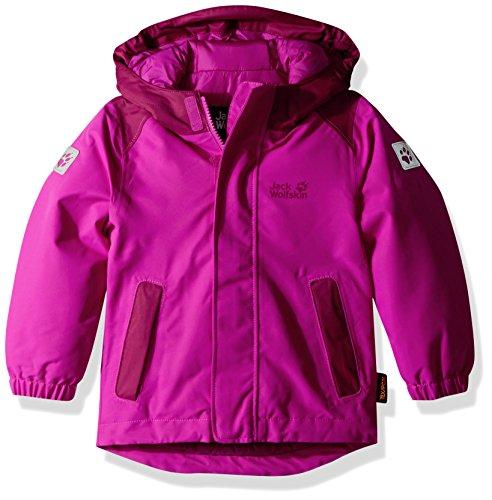 Jack Wolfskin Girls Kajak Falls Jacket, Fuchsia, Size 104 (3-4 (Gore Waterproof Oxfords)