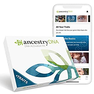 AncestryDNA + Traits: Genetic Ethnicity + Traits Test, AncestryDNA Testing Kit with 25+ Appearance and Sensory Traits, DNA Ancestry Test Kit, Genetic Testing Kit