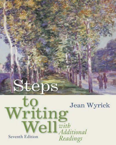 Download Steps to Writing Well with Additional Readings 7th edition by Wyrick, Jean (2007) Paperback PDF