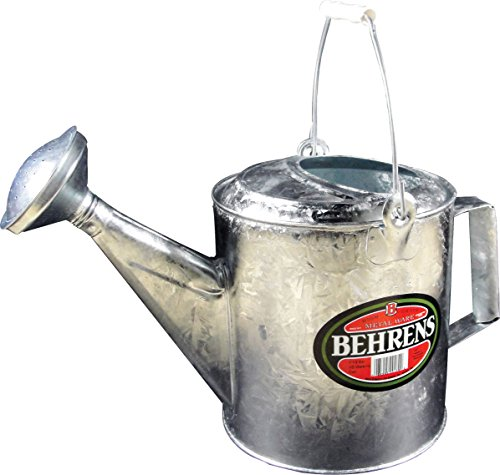 (Behrens Manufacturing 206 Hot Dipped Steel Watering Can, 1.5 gal, 1.5 Gallon, Silver)