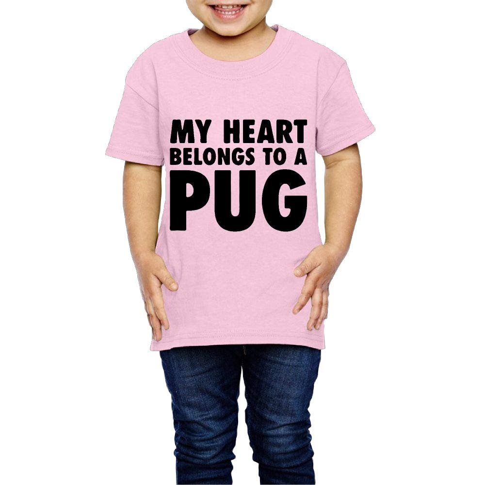 My Heart Belongs to A Pug 2-6 Years Old Child Short Sleeve T-Shirt