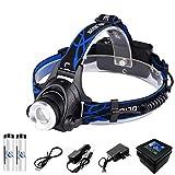 LED Headlamp Fishing Headlight 6000 Lumen CREE XM-L2 XML-T6 Zoomable Lamp Waterproof Head Torch Flashlight Head Lamp Use 18650