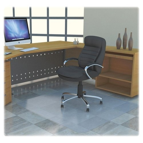 Lorell LLR69707 Polycarbonate Rectangular Chair Mat, 7.09'' Height X 26.77'' Width X 50'' Length by Lorell