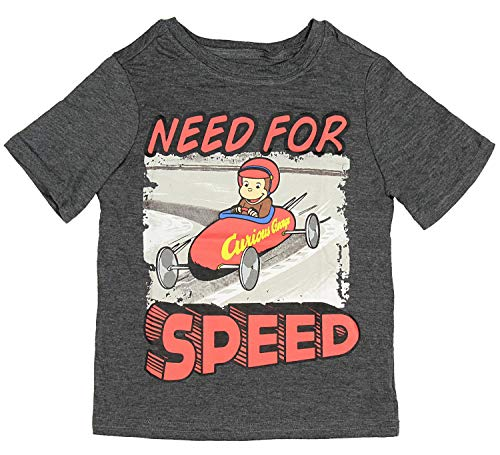Happy Threads Curious George Little Boys' Need for Speed Toddler T-Shirt (3T)