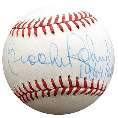 Brooks Robinson Autographed Signed Memorabilia Al Baseball Orioles 1964 Al Mvp Beckett F29714 1964 Al Mvp Autographed Baseball