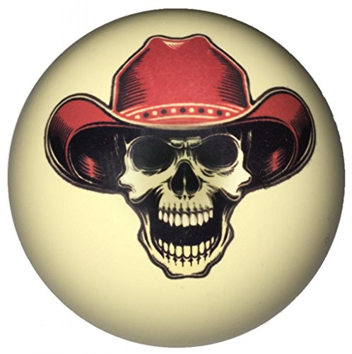 Cowboy Skull Cue Ball for Pool Players Custom by D&L Billiards Cowboys Pool