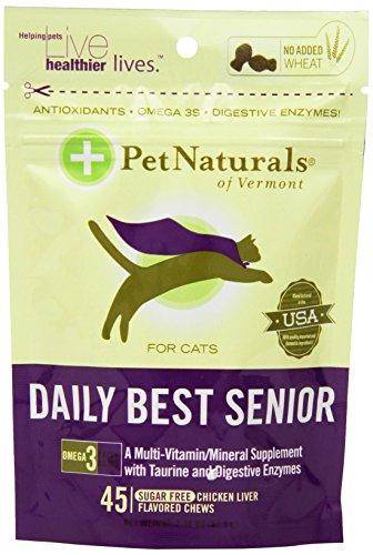 Pet Naturals of Vermont 45 comte Chew Daily Best pour seniors Chats