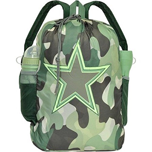 Kids Camouflage 4 Piece Sleepover Set - Sleeping Bag, Backpack, Water Bottle & Flashlight